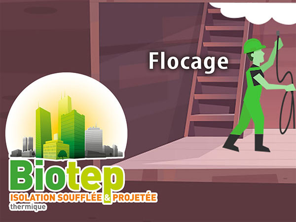 Isolation par flocage